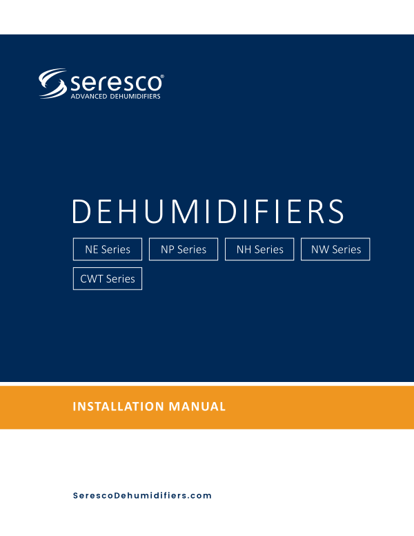 Seresco Dehumidifiers Installation Manual